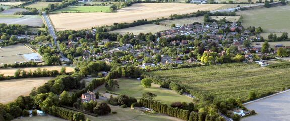 Aerial view of Upton