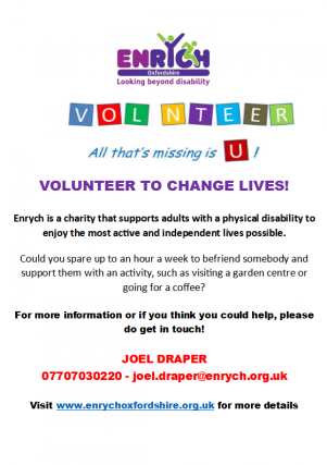 Enrych is a charity that supports adults with a physical disability