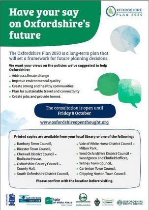 Oxfordshire 2050 plan poster